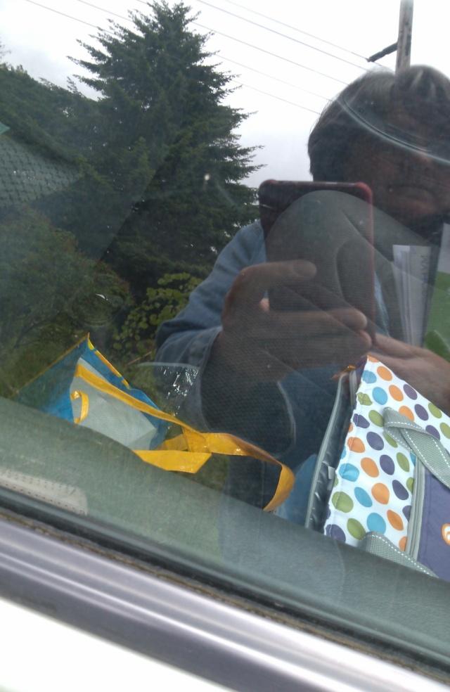 in the window