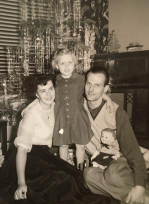 mom dad me 1952ish